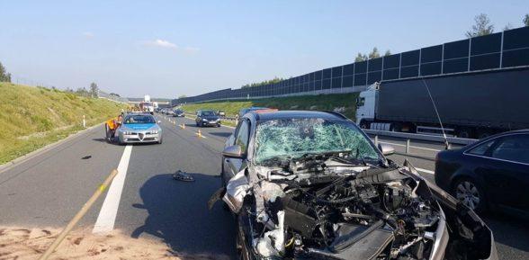 Wypadek na autostradzie A4 / Sterkowiec / 1 września 2017