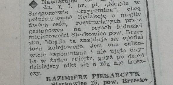 Sterkowiec – Historia grobu zamordowanych Żydówek rozwiązana
